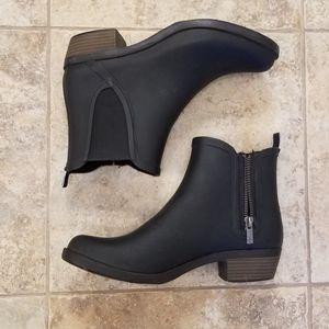 Lucky Brand Good Condition Black Rain Boots Bootie
